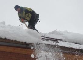 очитка крыши альпинистами на видео